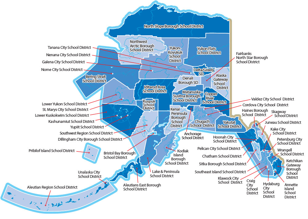 Pelican Bay Alaska Map.Alaska School Districts Alaska Council Of School Administrators Acsa